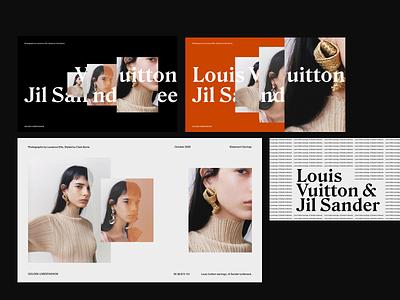 Louis Vuitton x Jil Sander Editorial whitespace modern layout typography minimal fashion design photograhy editorial layout editorial design editorial art presentation design presentation editor jil sander louis vuitton