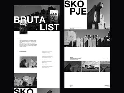 Brutalist Photography Portfolio portfolio site portfolio architecture brutalist design brutalism design website whitespace photography modern layout typography minimal