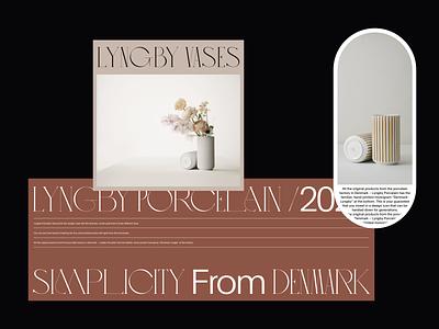 Lyngby Vases Visuals visual design visual art flowers vases ceramics porcelain serif editorial design minimalist fashion whitespace photography modern layout typography minimal