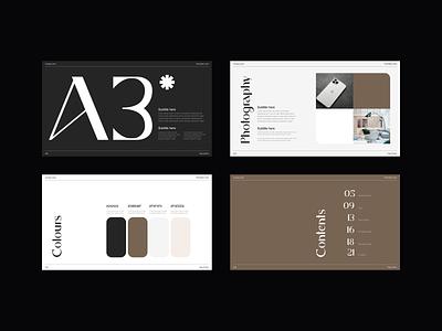 Brand Guidelines Presentation presentation presentation design web design branding and identity layout typography minimal brand presentation brand identity branding