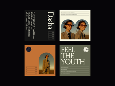 Feel the Youth Visuals visual design webdesign branding visuals editorial design minimalist fashion whitespace photography modern layout typography minimal