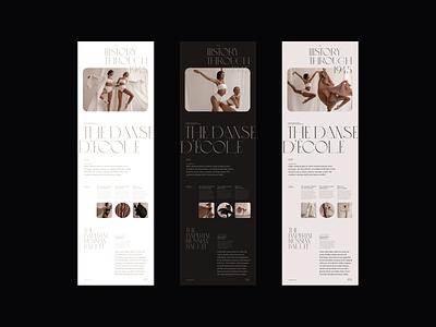 The Danse d'Ecole Exploration dancer dance ballet web design editorial design fashion minimalist whitespace photography modern layout typography minimal