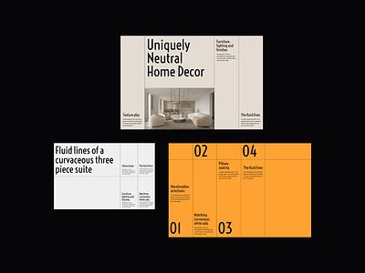 Interior Design Presentation editorial design web design presentation design minimalist whitespace photography modern layout typography minimal interior architecture interior design