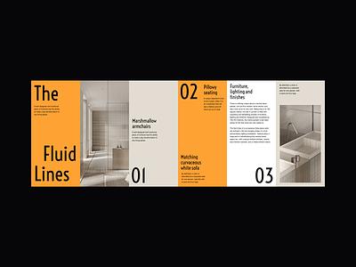 The Fluid Lines Visual Presentation furniture visuals architecture interior design web design minimalist whitespace photography modern layout typography minimal
