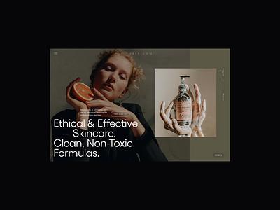 Skin eCommerce Header header ecommerce design editorial design ecommerce cosmetics skin skincare fashion minimalist whitespace photography modern layout typography minimal