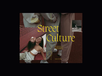 Women Street Culture Editorial streetwear design streetculture women streetwear editorial design web design website minimalist whitespace photography modern layout typography minimal