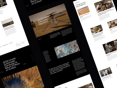 NASA Article Page blog design article design web design blog news nasa mars arcticle minimalist whitespace photography modern layout typography minimal
