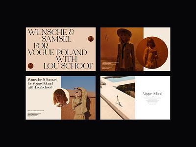 Vogue Poland Editorial Design vogue presentation design editorial layout editorial design web design fashion minimalist whitespace photography modern layout typography minimal