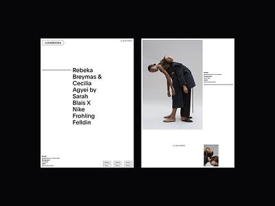 Lookbooks Visuals Layout editorial editorial design web design fashion minimalist whitespace photography modern layout typography minimal