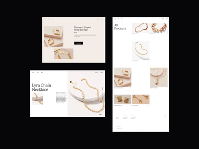 Jewelry Ecommerce Design Concept ecommerce design product page ecommerce necklaces fashion web design whitespace photography layout typography minimal jewellery jewelry design jewelry