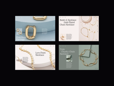 Jewelry Ecommerce Design Concept accessories necklaces ecommerce ecommerce design fashion minimalist whitespace web design photography modern layout typography minimal