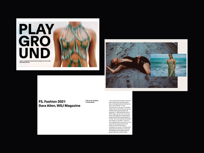 Playground Editorial 03 editorial editorial design fashion web design minimalist whitespace photography modern layout typography minimal