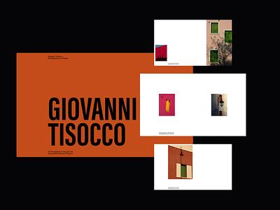 Layout Exploration: Giovanni Tisocco – Photography by Passion figma animationprinciple webdesign design minimalist whitespace photography modern layout typography minimal