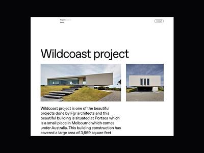 Modern Living Single Page ui website web design archi architecture design minimalist whitespace photography modern layout typography minimal