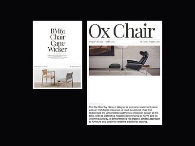 Furniture Design Exploration visual poster poster design chair ui architecture interior furniture web design design minimalist whitespace photography modern layout typography minimal