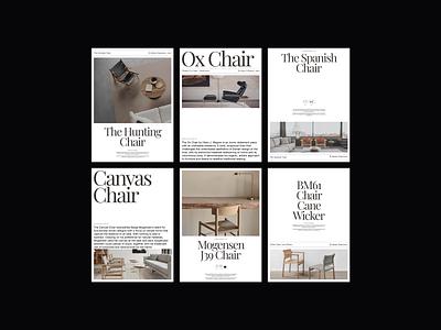 Furniture Design Exploration 03 chair futniture architecture archi poster design web design ui design ui design minimalist whitespace photography modern layout typography minimal