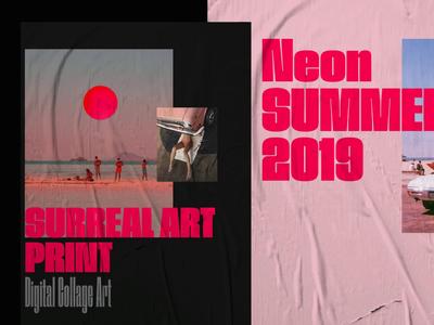 Neon Summer Poster