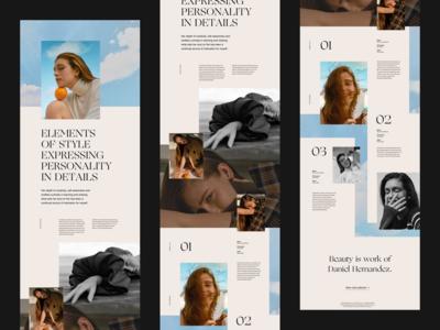 Editorial Website Concept