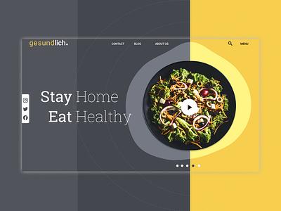 gesundlich #stayhome clean illustrator branding webdesign ui design ui illustration figma website concept website design web design website web