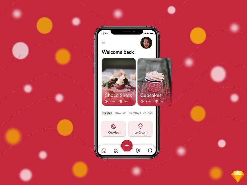 Desserts - Home | Mobile Application app ui  ux uidesign uiux desserts dessert home screen home mobile app design mobile design mobile app mobile ui mobile ux ux design ui ui design sketchapp sketch design