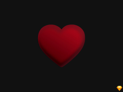 Beating Heart | Animation in Sketch heart red sketchapp sketch 3d animation 3d art 3d animated type animated gif animatedgif animation animated illustration design