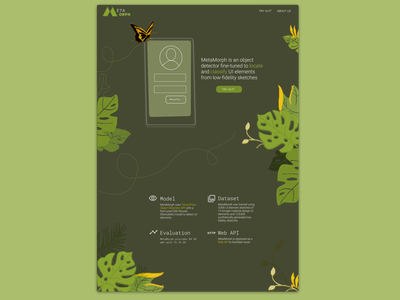 MetaMorph - UI Element Detector design clean ux ui figma web design ui design ux design illustrator illustration green