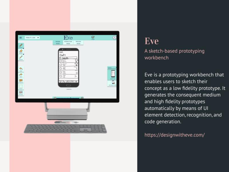 Eve - A Sketch-based prototyping workbench prototype ux design ui design ux clean illustration vector figma design