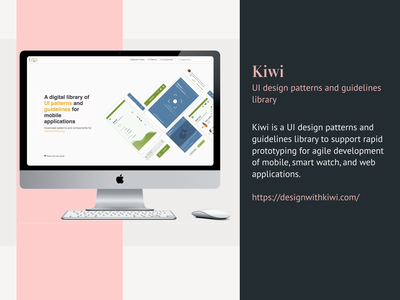 Kiwi - UI design patterns and guidelines library ui design web design ux design illustrator ux illustration clean vector figma design
