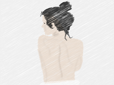 A sketch illustration of a woman sketchbook sketches sketching simple sketch girly identity girl character art illustration art girl illustration illustrations girl illustrator clean illustration vector design