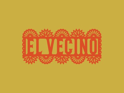 El Vecino art cut paper papel picado floral flowers texmex cuisine local neighbour food mexican authentic usa texas dallas east restaurant vecino