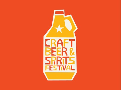 Craft Beer & Spirits Festival print block yellow red texas dfw breweries dallas collection test taste sample festival spirits and beer craft