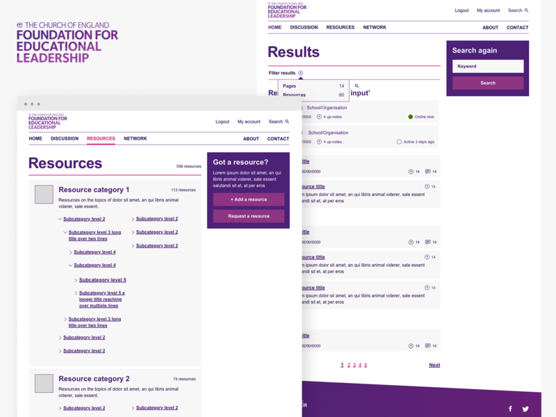 CoE Foundation for Educational Leadership notforprofit cms archives ui design