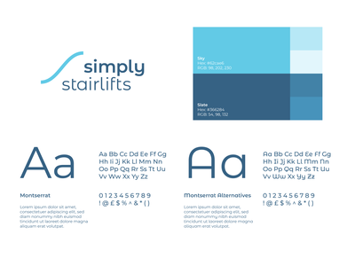 Simply Stairlifts and Simply Electrical logo design branding logo design