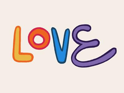 Love handlettering typography