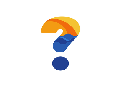 Question Mark Rise and Set after effects animated logo logomark