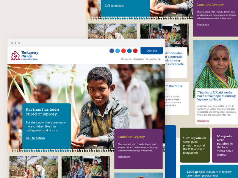 The Leprosy Mission Site Design webdesign
