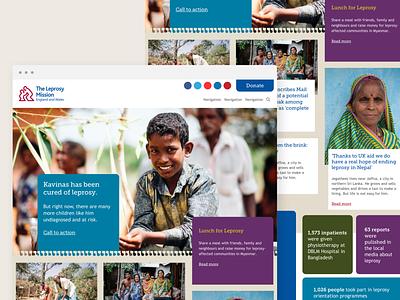 The Leprosy Mission Site Design webdesign