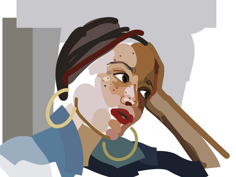 Zadie Smith personal portrait illustration vector illustration