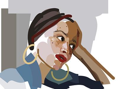 Zadie Smith personal portrait illustration vector illustration