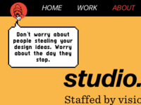 studio.zeldman.com Easter eggs