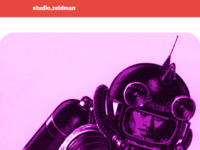 studio.z homepage redesign in progress (detail)