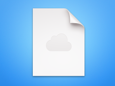 Generic Document document cloud blue white clean crisp sharp doityourself icon remake
