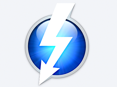 Quickie: Thunderbolt icon PSD quickie psd download icon thunderbolt free dirty osx lion blue remake white bolt
