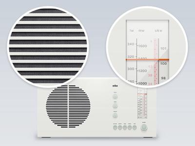 Braun RT20 by Dieter Rams, 1961 dieter rams radio simple illustration braun