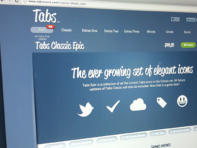 Tabs Icons Website tabsicons website jquery animation love tears complete css3 css html design icons tabs