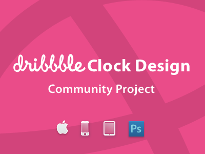 Community Project: clOck clock design dribbble comminity free psd download