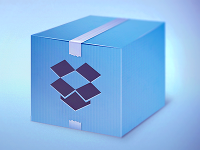 I love Dropbox dropbox blue quickie icons icon tape box