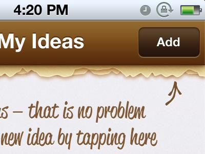 Ideas idea notepad brown playfull inviting iphone retina