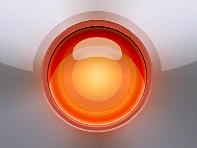Not quite HAL, but close another iPhone app iphoneicon orange inset hal 9000 lickable metal iphone glow red alarm icon icons