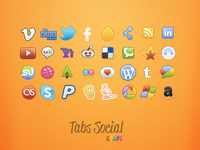 Tabs Colors: Social